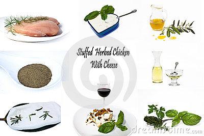 Recipe Colage - Stuffed Herbed Chicken With Cheese