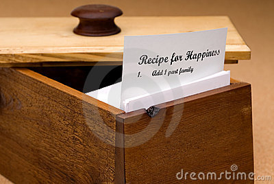 Recipe For Happiness Stock Photo - Image: 4333460