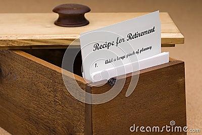 Recipe for retirement