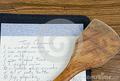 Recipe And Wooden Spoon