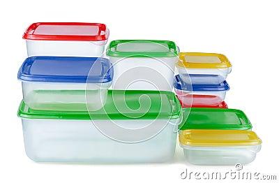 Recipienti di plastica
