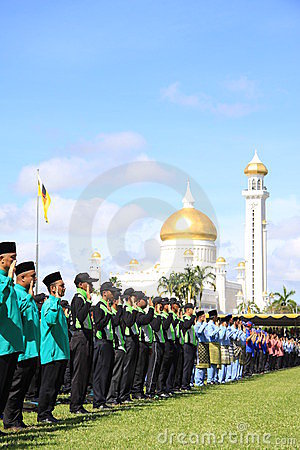 Reciting the oath at national day Editorial Stock Photo
