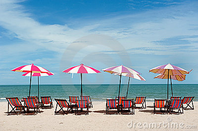 Recline chair on the beach