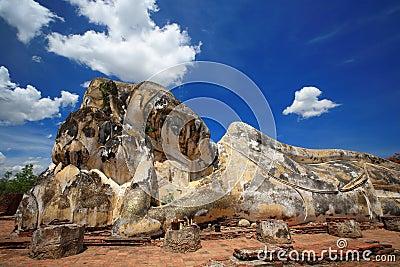 Reclining Buddha  Ayuthaya  Thailand