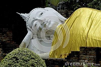 Reclining Buddha in Wat Yai Chai Mong klon.