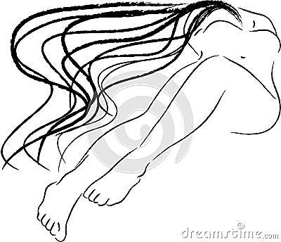 Reclining nude sketch