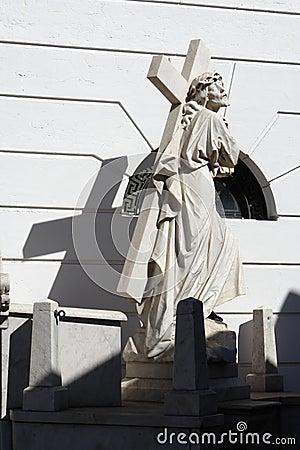 Recoleta Cemetery Jesus Statue Buenos Aires