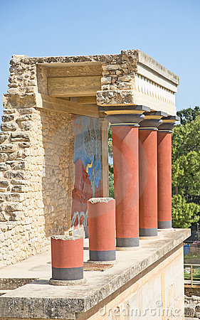 Reconstructed Palace at Knossos, Crete.