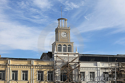 Reconstruction of clock tower