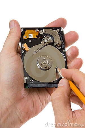 Record information on the hard disk