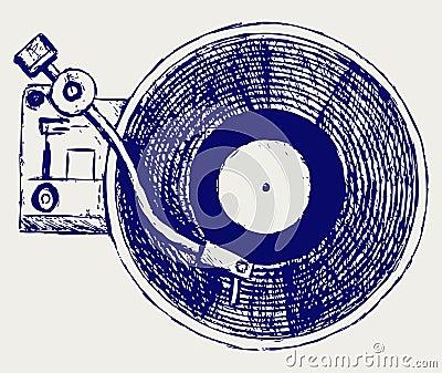 Record player vinyl record