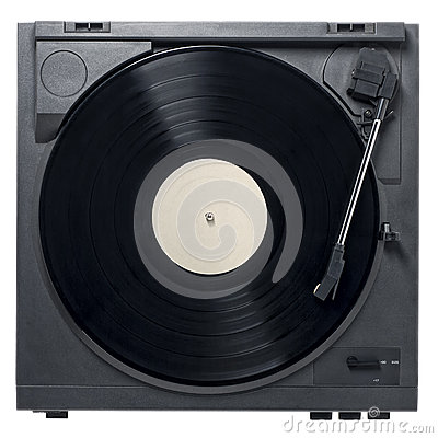 Free Record Player With Vinyl Record Stock Photography - 46288212