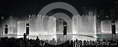 A record-setting fountain system Editorial Stock Photo