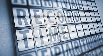 Record time information on display board