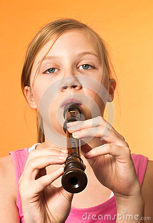 The recorder wind instrument