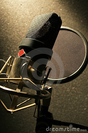 Recording Studio Microphone with sound filter