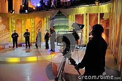Recording TV show in studio