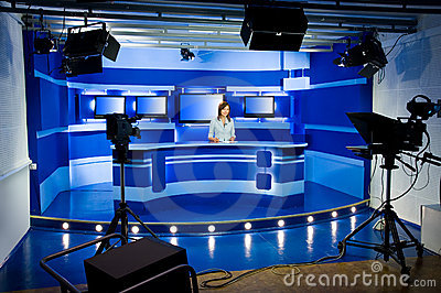 Recording at TV studio