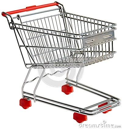 Recorte de la carretilla de las compras