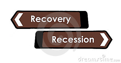 Recovery and Recession Sign