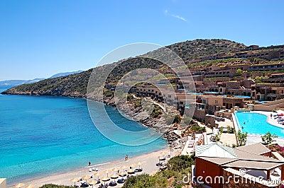 Recreaiton area and beach of the luxury hotel