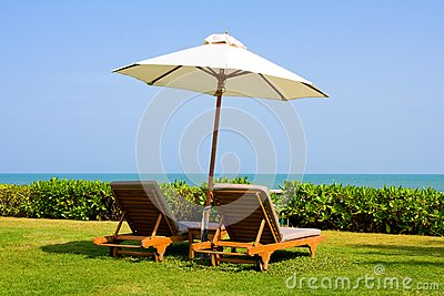 Recreation area of luxurious hotel