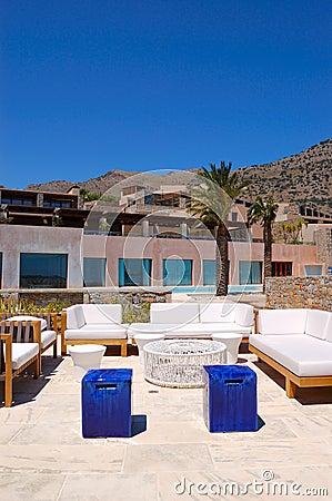 Recreation area at luxury hotel