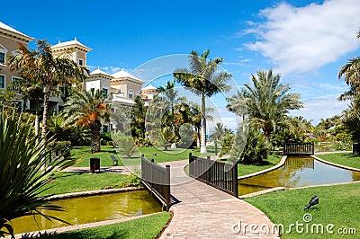 Recreation area of luxury hotel