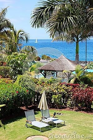 Recreation area at the luxury villa