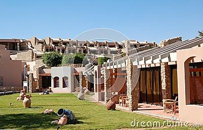 Recreation area of popular hotel