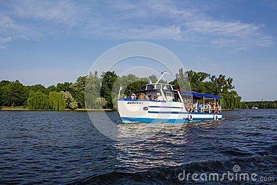 Recreation boat Editorial Stock Image