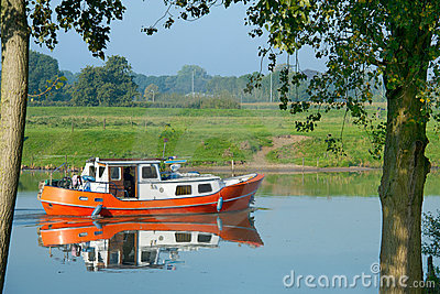 Recreation boat in Dutch water