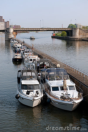 Recreation boats at the river