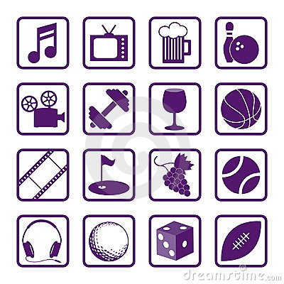 Free Recreation Icons Stock Image - 1463791
