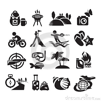 Recreation Icons. Vector illustration