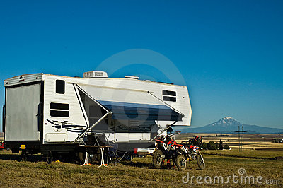 Recreational vechicle RV camping