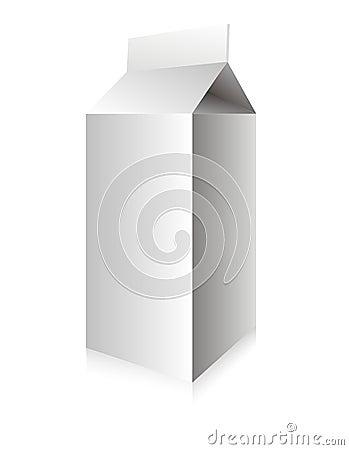 Rectángulo blanco de la leche del vector