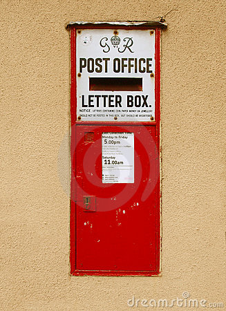 Rectángulo viejo del poste Foto de archivo editorial