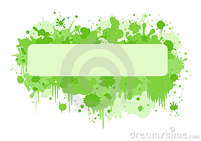 Rectangle banner with green blurs