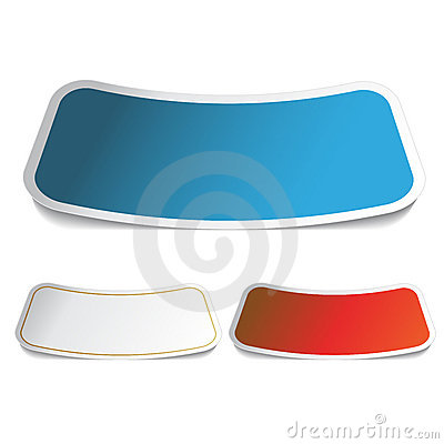 Rectangle bended stickers