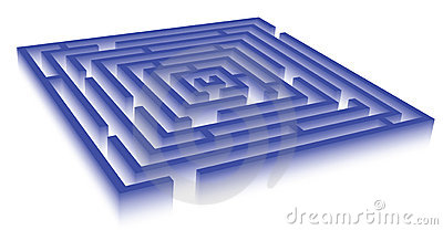 Rectangle blue maze