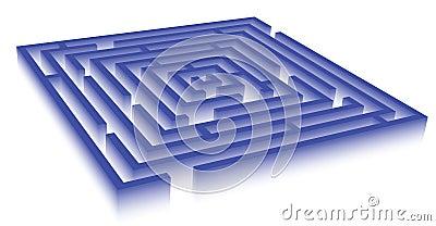 Rectangle blue maze