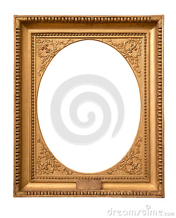 Free Rectangle Decorative Golden Picture Frame Stock Images - 79270394