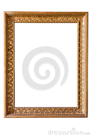 Free Rectangle Decorative Golden Picture Frame Stock Photos - 79272473