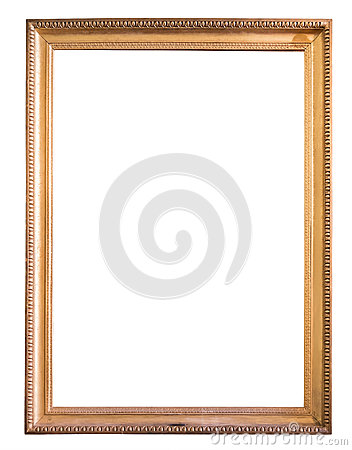 Free Rectangle Decorative Golden Picture Frame Royalty Free Stock Image - 79272526