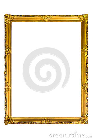 Free Rectangle Decorative Golden Picture Frame Stock Photography - 93303562