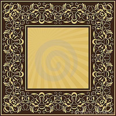 Rectangle gold frame