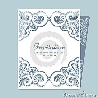 Free Rectangle Lace Frame Stock Photo - 53590300
