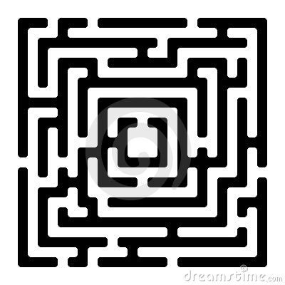 Rectangle maze izolated on white