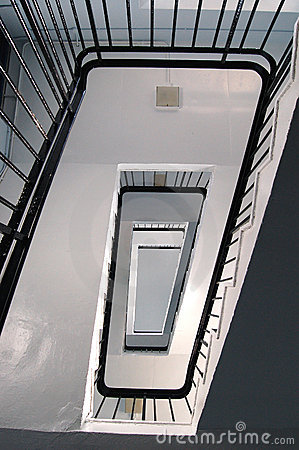 Rectangler Spiral Stairs